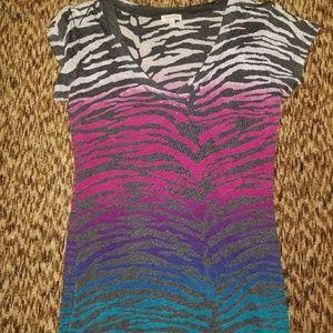 Rainbow Zebra tee